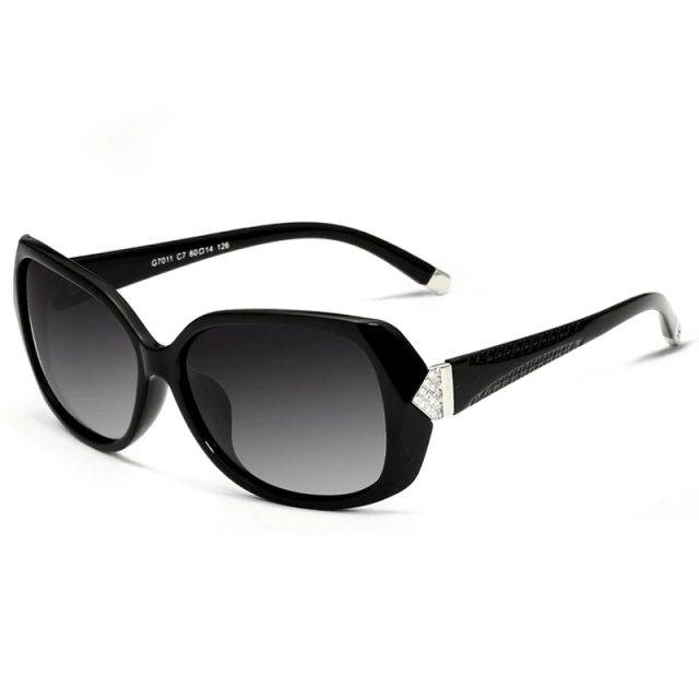 Women's Vintage Polarized Carved Sunglasses