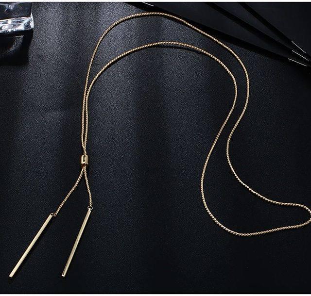 Double Bar Sautoir Necklace