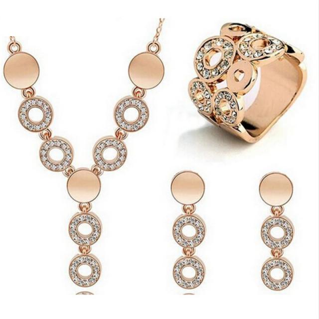 Classy Sparking Crystal Wedding Jewelry Set