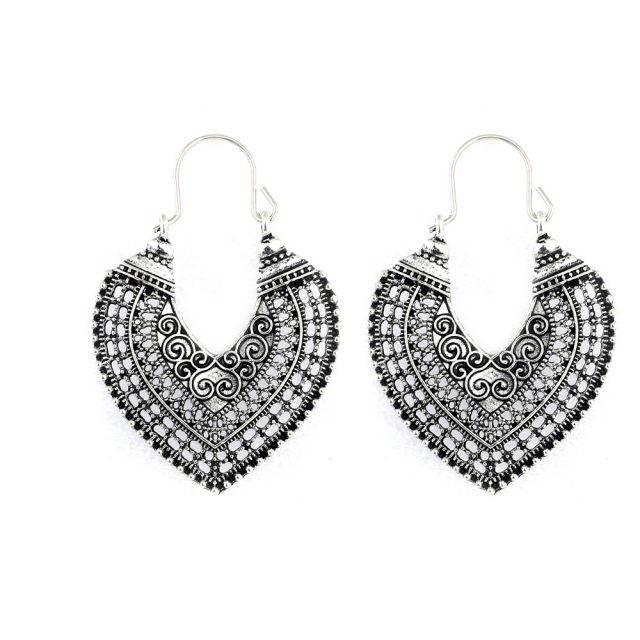Boho Heart Shaped Women's Earrings