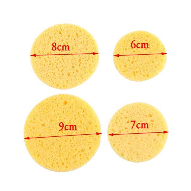 Natural Cellulose Sponge for Face Care 10 Pcs Set