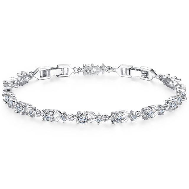 Luxury Plant Pattern Bracelet for Women