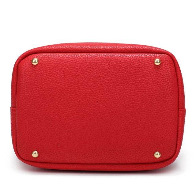 Cute Bucket Shaped Leather Women's Handbag