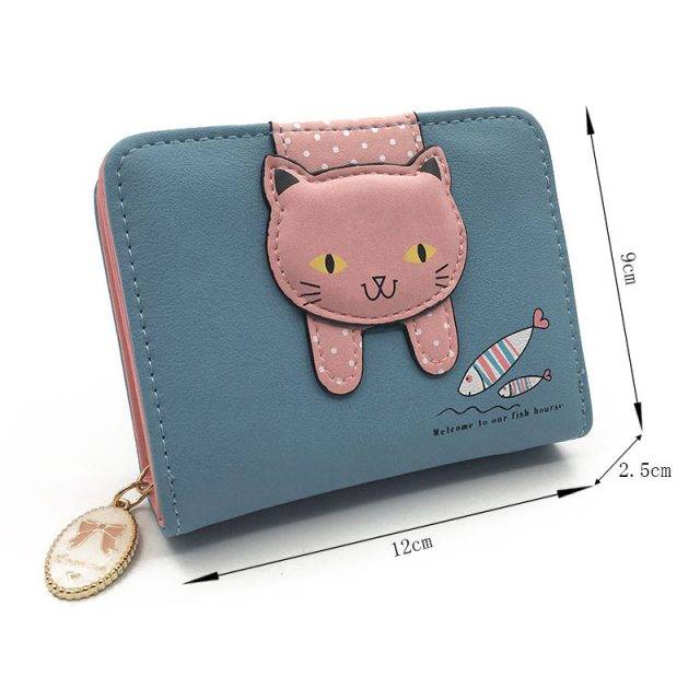 Women's Cute Cat Printed Wallet