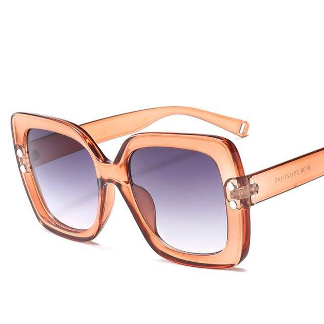 Elegant Vintage Style Oversize Women's Sunglasses