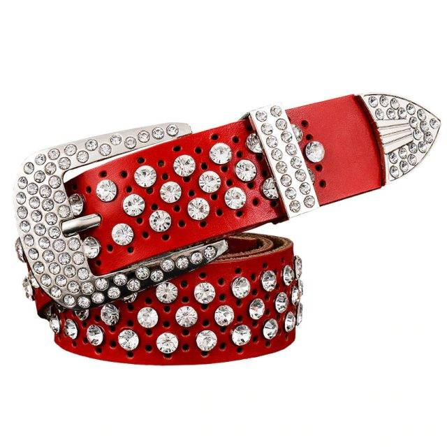 Women's Rhinestones Decorated Belt