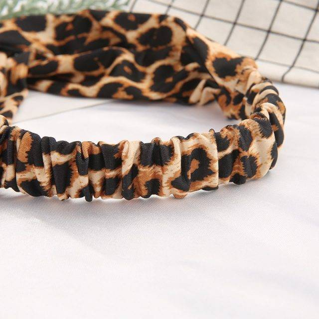 Canvas Headband in Animal Print