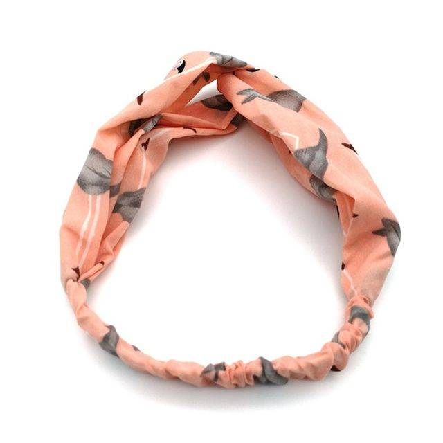 Bohemian Headband in Flamingo Print