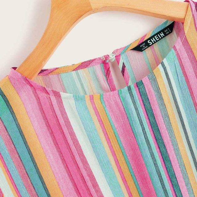 Women's Colorful Striped Top