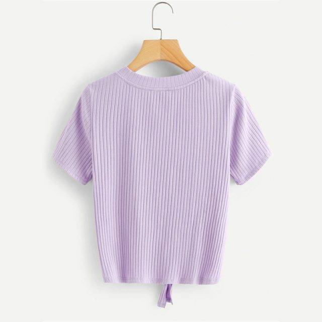 Women's Street Styled T-Shirt with Front Knot