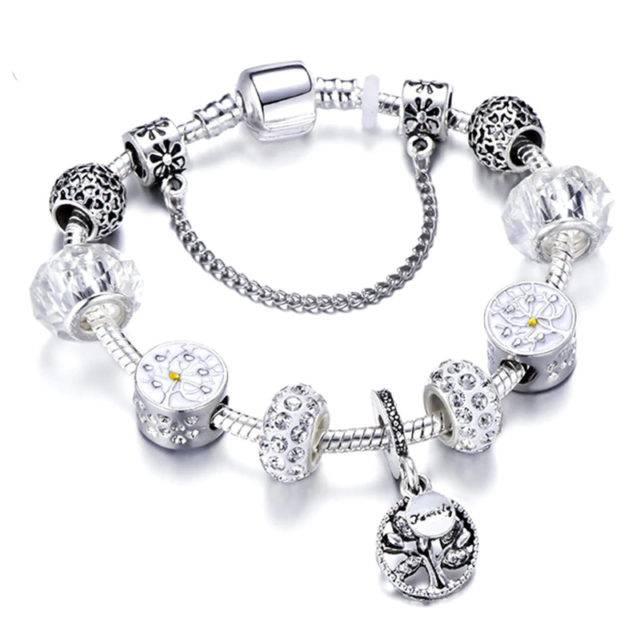 Women's Silver Charm Bracelet