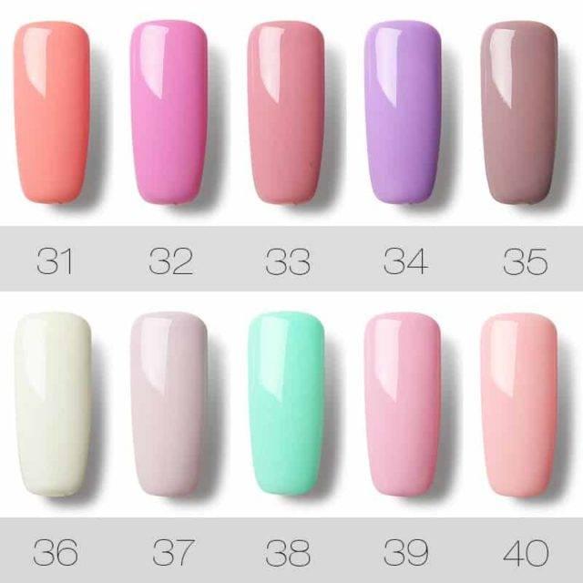 UV LED Gel Nail Polish Pure Color 31-60