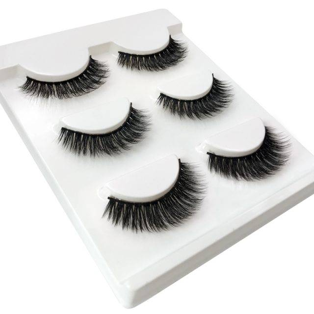 3 Pairs of 3D Thick False Eyelashes