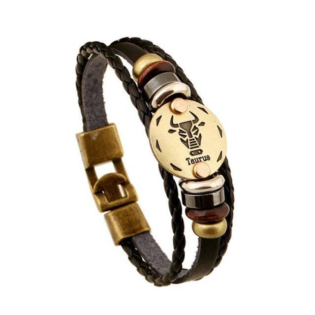 Women's Zodiac Signs Themed Rope Bracelet