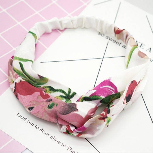 Chiffon Bohemian Hair Bands Elegant Print Headbands Hair Accessories For Women