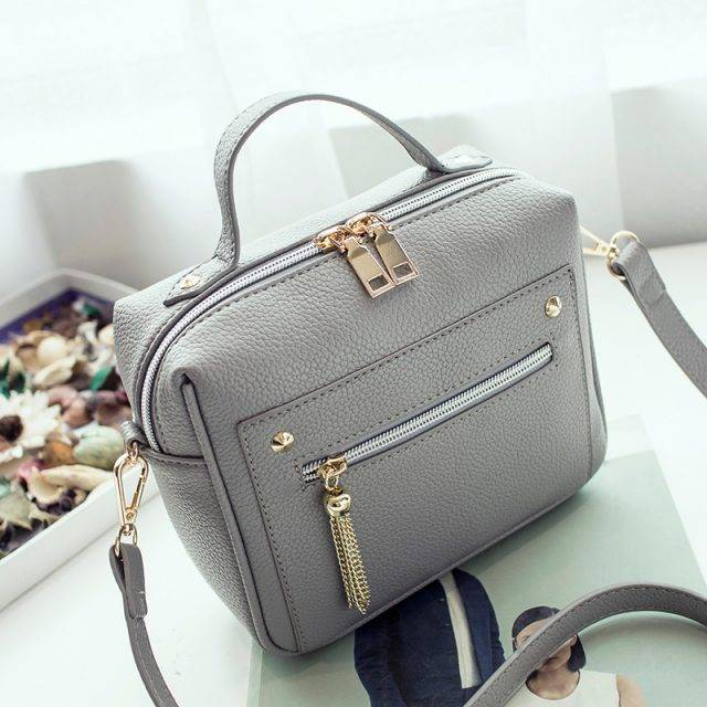 Cute Retro Compact Leather Women's Crossbody Bag