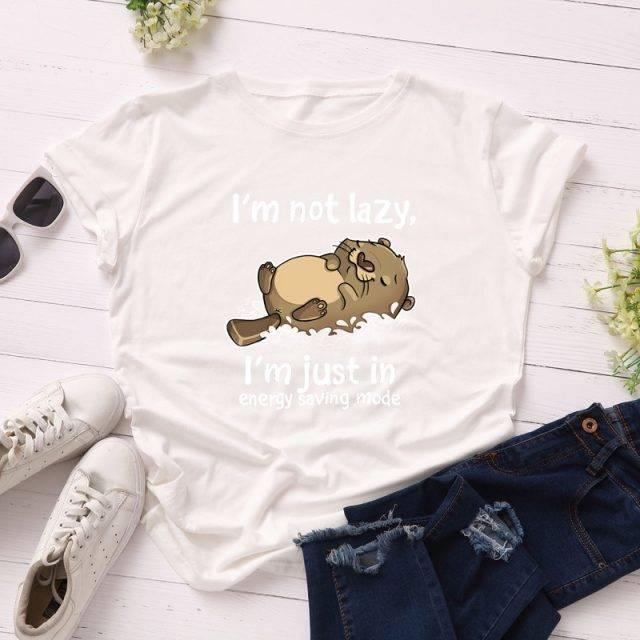 Women Bear T-shirts 100% Cotton Cute Cartoon Tee Shirts