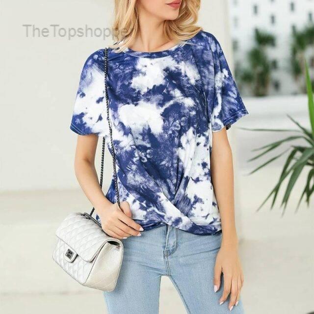 Women T-Shirt Tops Casual Tie-Dye T-Shirts