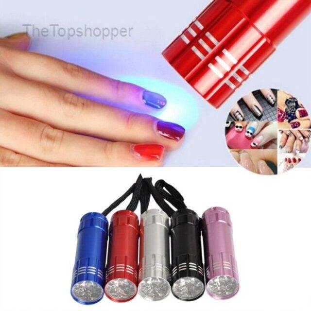 Professional Gel  Dryer UV Lamp Portable Mini LED Flashlight For Nail Gel  Fast Dryer